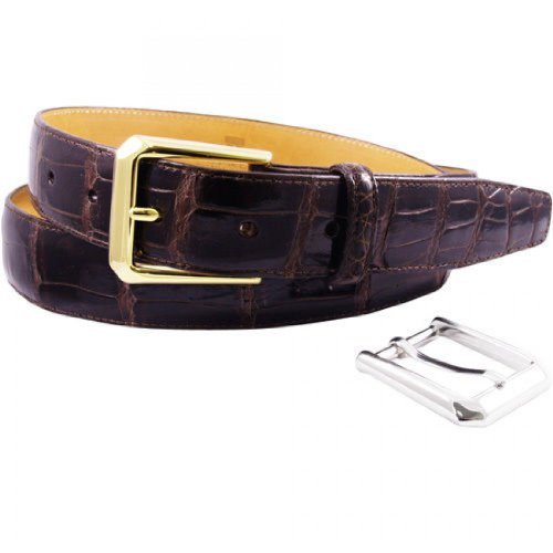 (Trafalgar Classic Brown Alligator Belt Size 38)