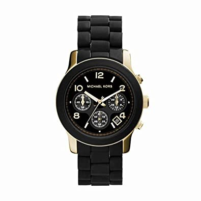 37ed7d91d Amazon.com: Michael Kors Women's Runway Black Watch MK5191: Michael ...
