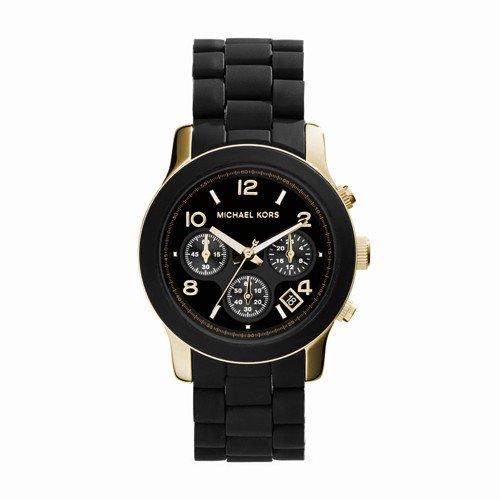 Michael Kors Women's Runway Black Watch - And Gold Michael Black Kors