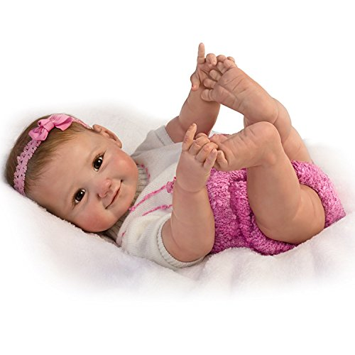 The Ashton-Drake Galleries So Truly Real 10 Little Fingers, 10 Little Toes Poseable Baby Doll