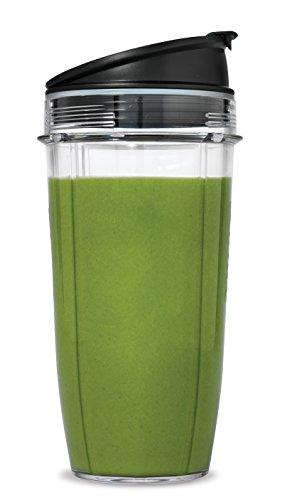 Nutri Ninja 24-Ounce BPA-Free Tritan Cup with Spout Lid for Nutri Ninja Blenders (XSK2424), 2-Pack - smallkitchenideas.us