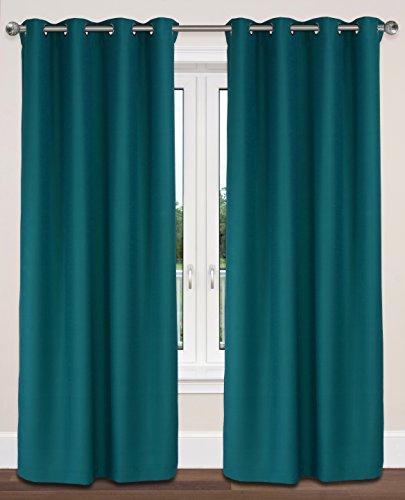LJ Home Fashions Twilight Room Darkening Faux Silk Grommet C