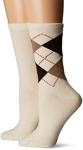 HUE Women's Casual Sock pack of 2 Ivory
