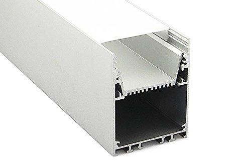Plafoniera Led Moderna : Profilo alluminio moderno per fare plafoniera led lineare metro