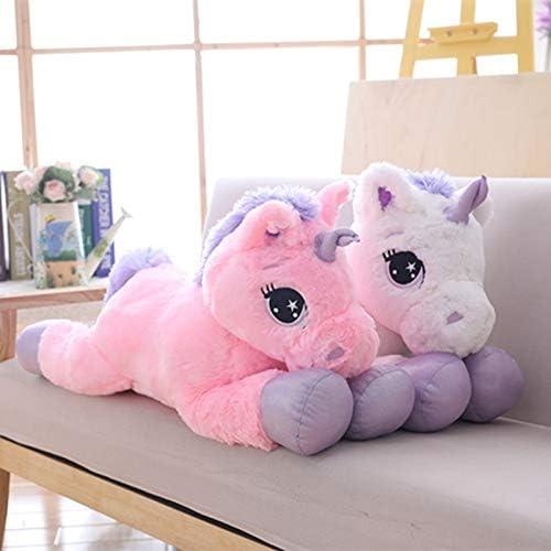 Giant 110//60cm Unicorn Plush Toy Soft Stuffed Popular Cartoon Unicorn Doll Animal Horse Toy Toys for Children Girls-80cm Pink Purple