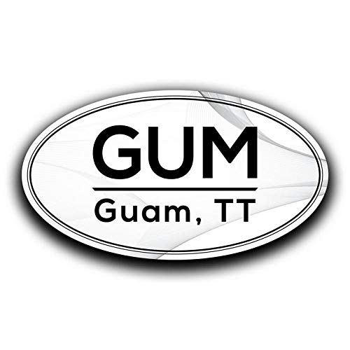 MKS0570 Two 5.5 Inch Decals More Shiz Gum Guam TT Airport Code Decal Sticker Home Travel Car Truck Van Bumper Window Laptop Cup Wall