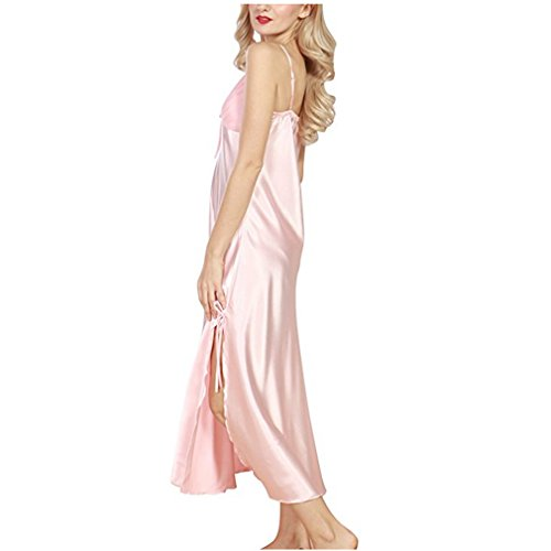 Fourche Dentelle Pyjamas Simulation De Longue Section Dames Satin H Vêtements Femmes Soie Nuit Mesdames Nighties Pyjama Soft 2019nouvelle 1411 Fente Soyeux w8Uax