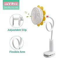 1200mAh Rechargeable USB Stroller Fan Clip on Flexible Baby Kids Bendable Portable Mini Fans
