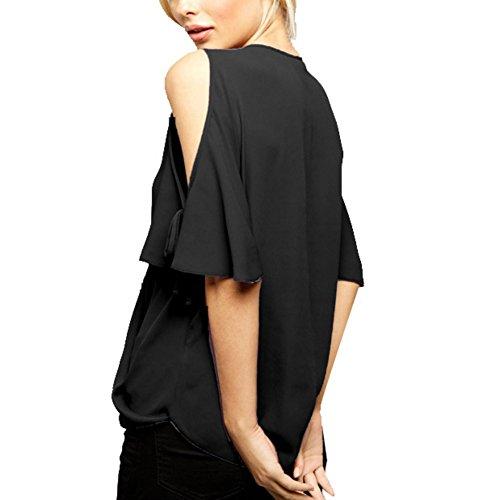 ESHOO - Camisas - Manga corta - para mujer negro