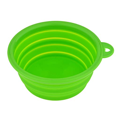 PG-One 1PC Folding Silicone Dog Bowl Outfit Portable Travel Bowl for Dog Feeder Utensils Small Mudium Dog Bowls,11,12.8x5.5cm