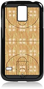 Basketball Court- Case for the Galaxy S5 i9600-Hard Black Plastic