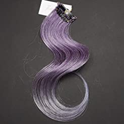 12 inch Purple Colored Clip in Hair Exte...