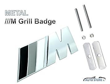 Pegatinas BMW///M, Gris, Metal, 3d – Parche de enfriador