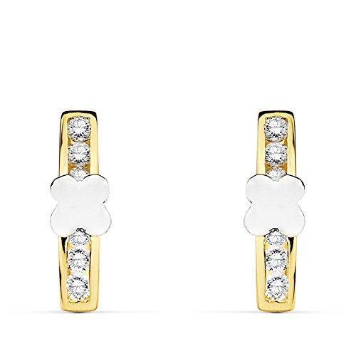af6039380adf Envio gratis Pendientes de Niña oro bicolor 18 kilates Aria Comunión ...