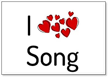 Amazon com: I Love Song, fridge magnet (design 1): Kitchen