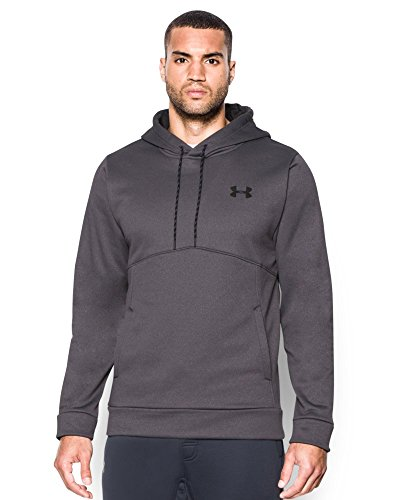 Under Armour Men's Storm Armour Fleece Hoodie, Carbon Heather/Black, Large