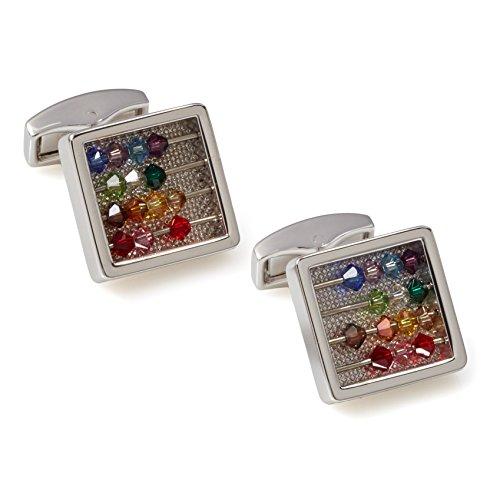 Tateossian Abacus Cufflinks with Multicolor Swarovski Element Beads