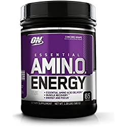 Optimum Nutrition Amino Energy with Green Tea and Green Coffee Extract, Flavor: Concord Grape, 65 Servings