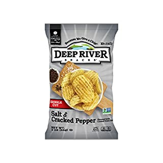 Deep River Snacks Salt & Cracked Pepper Kettle Cooked Potato Chips, 2 Ounce (Pack of 24)