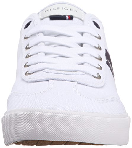 Tommy Hilfiger Men's Pandora Sneaker, White Canvas, 12