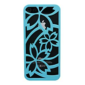 inCUTOUT iPhone5 Case (Sakura: Blue) Cutout style with protection film (japan import)