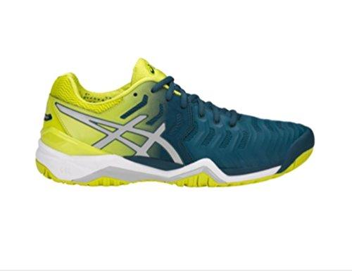 ASICS Men's Gel-Resolution 7 Tennis Shoe, Directoire Blue/Silver/White, 10.5 Medium US