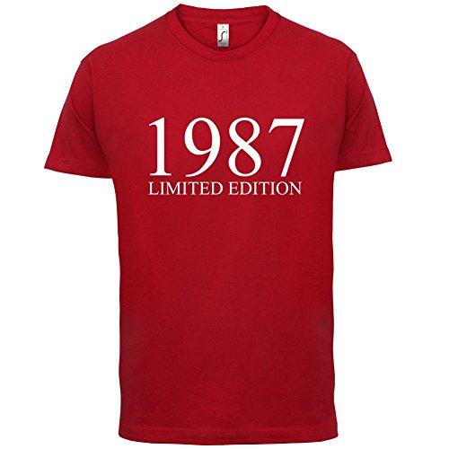 1987 Limierte Auflage / Limited Edition - 30. Geburtstag - Herren T-Shirt - Rot - S