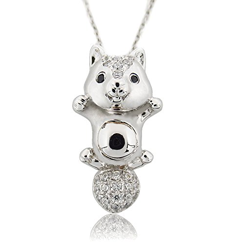 [Morsca Sterling Silver 925 My Little Squirrel Pendant Necklace Girls Jewelry Gifts] (Star Wars Kids Costumes Diy)