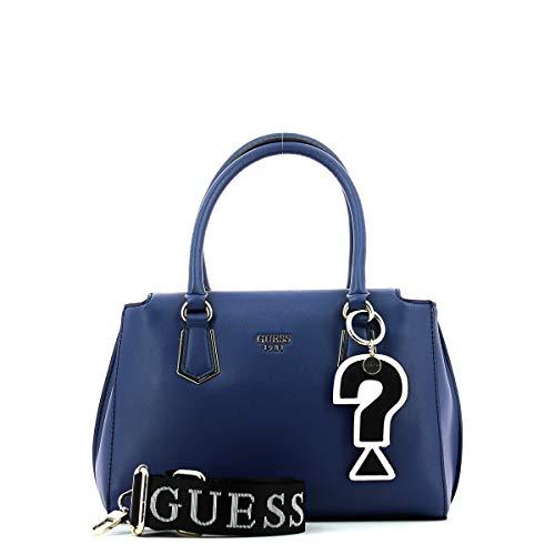 L 28x18x14 W x Felix x Blu Guess H a Borsa cm Mano Donna Blue C4PCwHfqX
