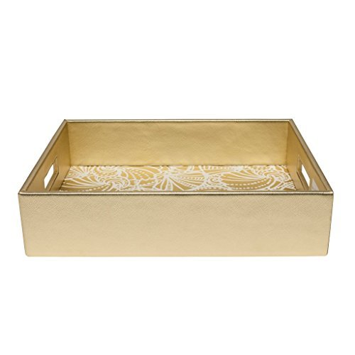Lilly Pulitzer Women's Letter Tray Gold Sea Side