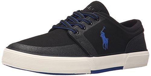 Polo Ralph Lauren Mens Faxon Sneaker Bassa Moda Nubuck Nero