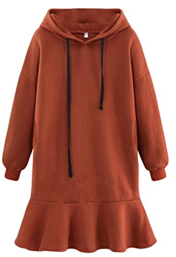 Sweatshirt Drawstring Sleeve Dress amp;W Long M amp;S Women's 1 Hooded 1qwa0