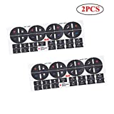 Update Material 2PCS A/C Dash Button Repair Kit Sticker Fit Replacement Adhesive for Ruined Faded Auto Climate Control Decals Compatible 2007-2013 GM GMC Chevy Chevrolet 2009-2012 Buick Vehicle