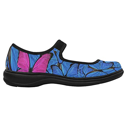 InterestPrint Womens Comfort Mary Jane Flats Casual Walking Shoes Multi 3 fMZm5