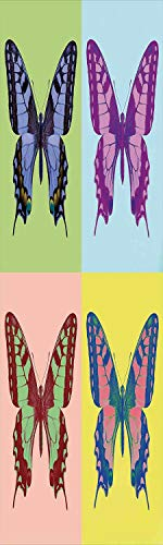 - Butterflies Decorations 3D Decorative Film Privacy Window Film No Glue,Frosted Film Decorative,Pop Art Swallowtail Pavilions Wild Life Transcendent Energies of Miraculous Wings,for Home&Office,23.6x70
