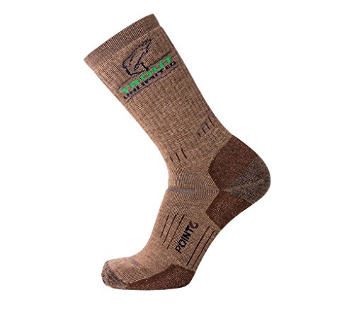Point 6 Trout Unlimited, Boot, Medium, Mid Calf, Earth, Extra Large with a Helicase sock ring