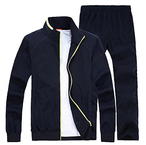 XTX Men's Tracksuits Sets Sports Jacket + Pants Jogging Sweat Suits