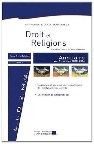 Livre gratuits Annuaire Droit et Religions : Volume 7 pdf, epub ebook