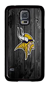 Samsung Galaxy S5 Case, S5 Case - Cool Design Minnesota Vikings Pattern Polycarbonate Hard Case Cover for Samsung Galaxy S5 I9600 Black