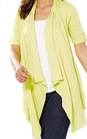 Ladies Lime Green Long Waterfall Cardigan in women's sizes 10 ...