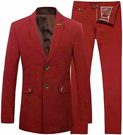 6abd2d901d70 Men's Suit Two Piece Suit Slim Fit 2 Button Dinner Suit Tuxedo Man Suit( Jackets