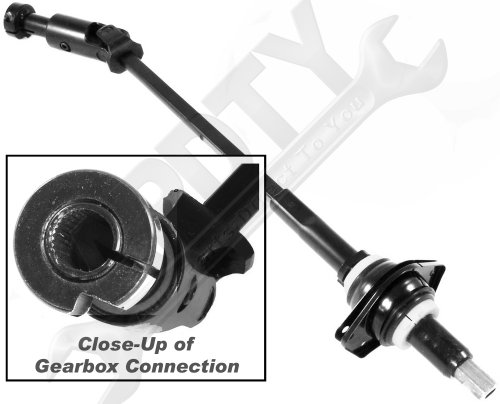 APDTY 52078705 Intermediate Steering Shaft Assembly with Universal Rag U-Joints and Bearing Fits 1997-1999 Jeep Wrangler TJ (Models With Power Steering; Replaces 52078705AC, 52078705AB, 52078705AA) Power Steering Column