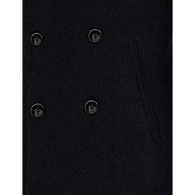 Brand - find. Men's Long Sleeve Double Breasted Wool-Blend Coat: Clothing