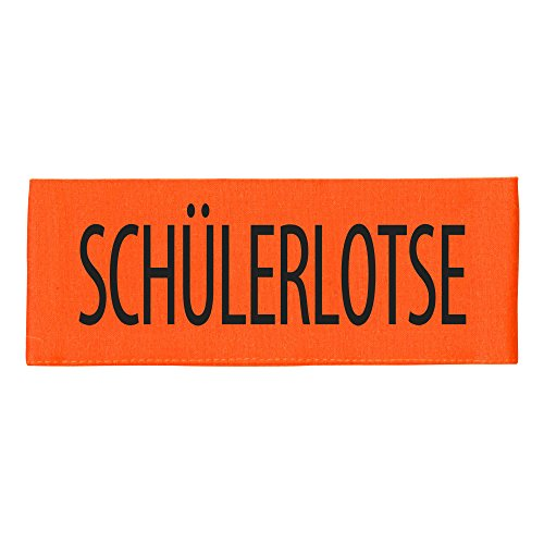 ARMBINDE Baumwolle mit Print - Schülerlotse - 30746 orange