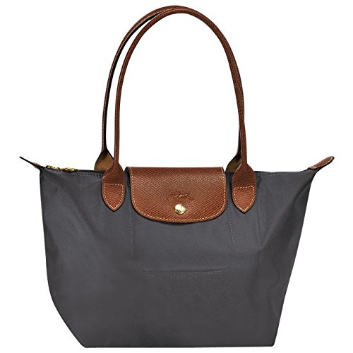 small tote bag l gun metal by longchamp paris le pliage 100 authentic original from. Black Bedroom Furniture Sets. Home Design Ideas
