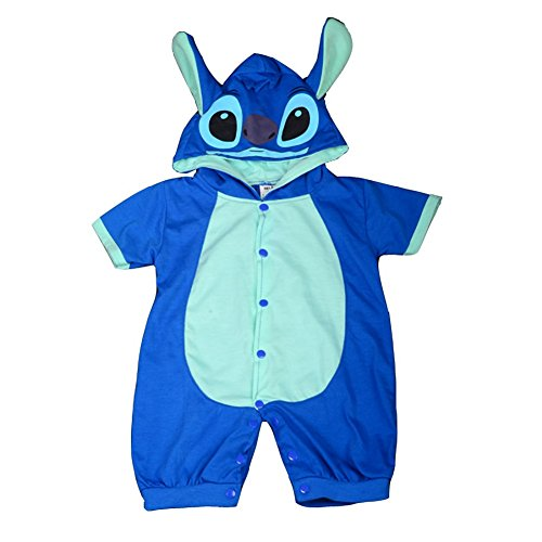 Dressy Daisy Baby Boys' Stitch Romper Fancy Halloween Party Costume Outfit Size 9-12 Months ()