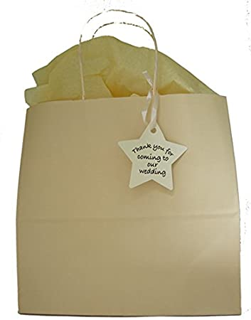 Wedding Ivory Gift Bags Free Delivery 1 Empty Ivory Paper Bag