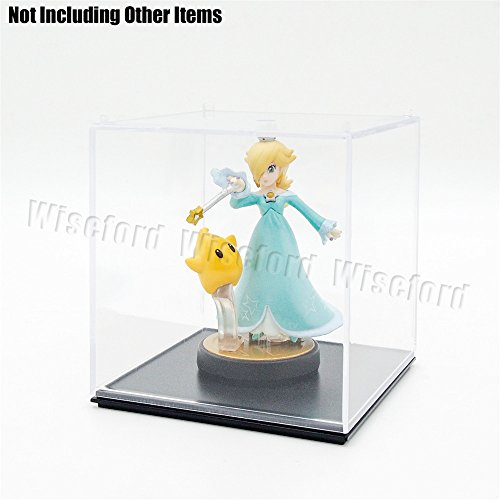Tingacraft AcrylicDisplayCase/Box(3.8 x 3.8 x 3.7 inch) PerspexDustproofShowCase for 3.75 inch Action Figure Golf Ball Medal (Figurine Display Case Amiibo compare prices)