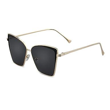 parzinkk Cara Redonda Gafas De Sol Señoras Gafas De Sol Moda ...
