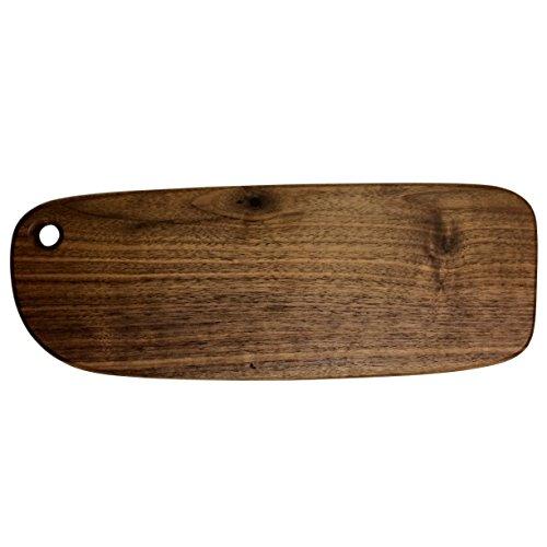 FREELOVE Negro Madera de Nogal Carne Plato para servir Tabla de cortar con mango agujero, sin pintura sin cera, de...